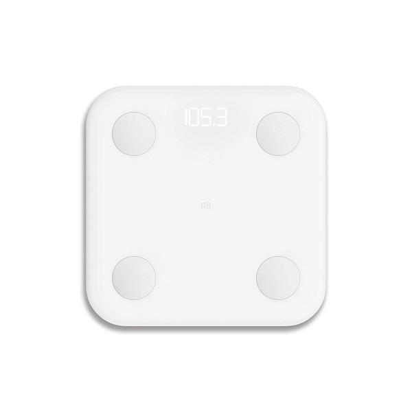 Xiaomi mi body composition scale blanco báscula inteligente datos corporales registro a través de app mi fit