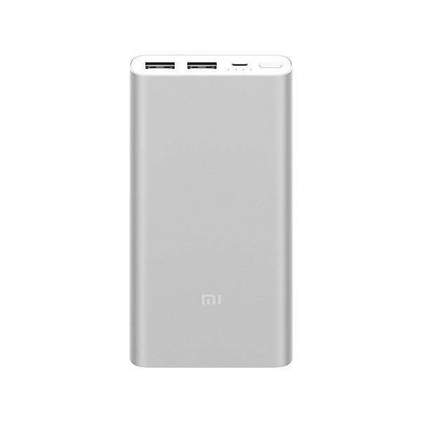 Xiaomi power bank 2s plata 10.000mah batería portátil 2xusb diseño en aleación de aluminio