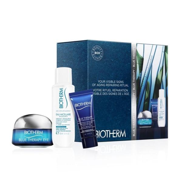 Biotherm blue therapy crema de ojos 15ml + eau micellaire 30ml + multi-defender cream spf25 5ml