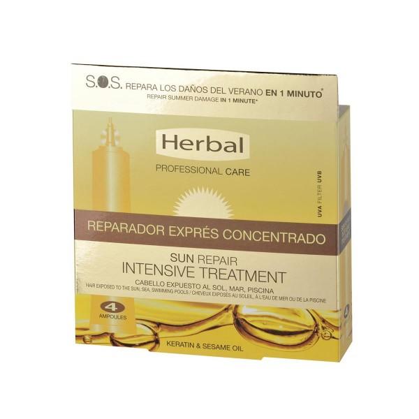 Herbal hispania sun repair tratamiento reparador express concentrado pack 4u. 48ml
