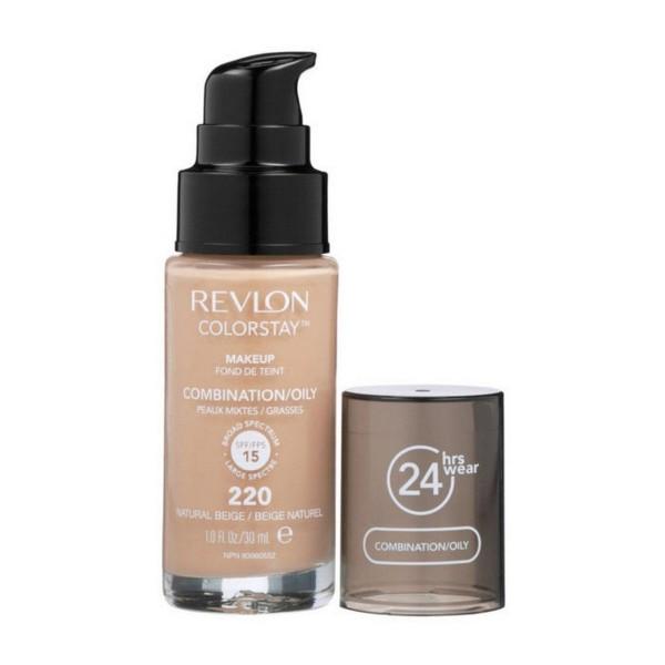 Revlon colorstay liquid oily fond de teint 220 nat beige 35.79gr