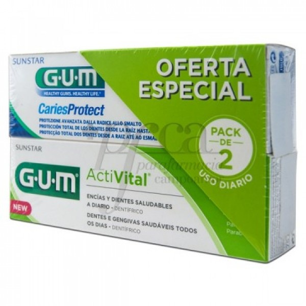 GUM ACTIVITAL 75ML + CARIES PROTECT 75ML PROMO