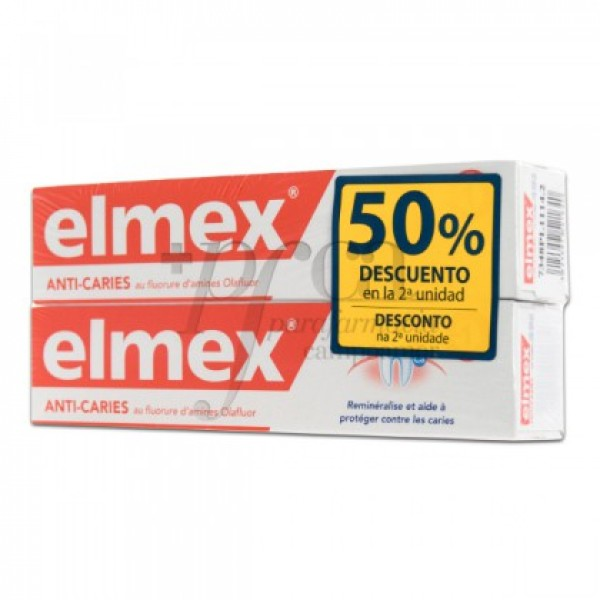 ELMEX ANTICARIES DENTIFRICO FLUOR 2X 75ML PROMO