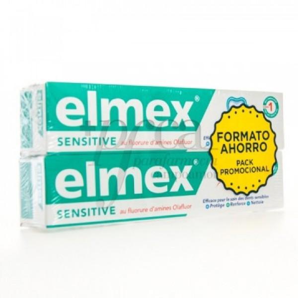 ELMEX SENTITIVE DENTIFRICO FLUOR 2X 75ML PROMO
