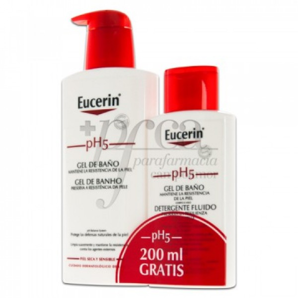 EUCERIN PH5 GEL DE BAÑO 400ML + 200ML PROMO