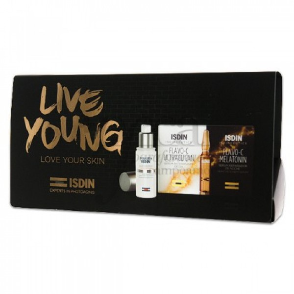 ISDIN LIVE YOUNG FOTOULTRA + FLAVO-C PROMO