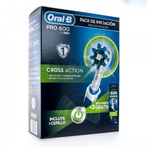 ORAL-B PRO600 CROSS ACTION + 2 RECAMBIOS PROMO