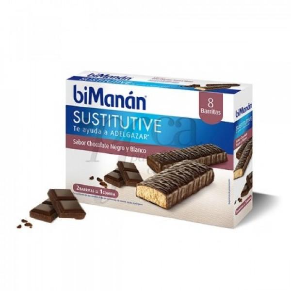 BIMANAN BARRITA CHOCOLATE NEGRO Y BLANCO 8X 40G
