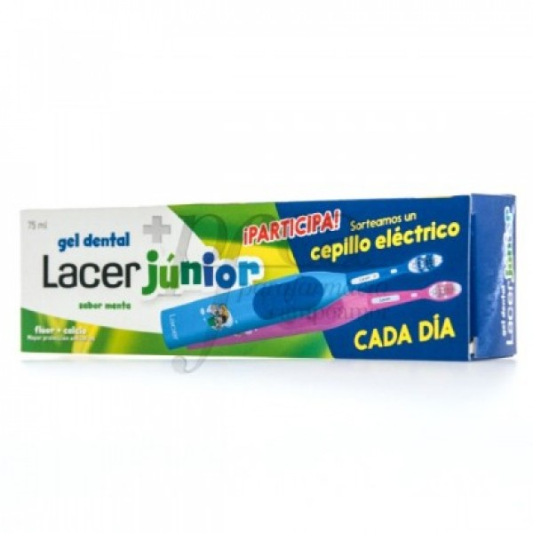 LACER JUNIOR GEL DENTAL 75ML SABOR MENTA