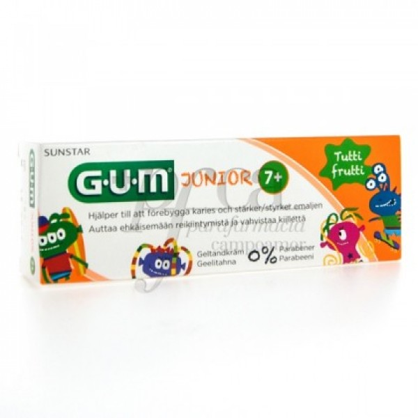 3004 GUM JUNIOR GEL DENTIFRICO TUTTI FRUTTI 50ML