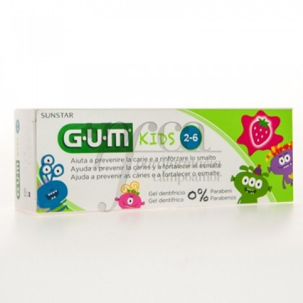 3000 GUM KIDS GEL DENTIFRICO FRESA 50 ML 2-6 AÑO