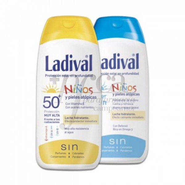 LADIVAL NIÑOS FPS50 200ML + AFTERSUN 200ML PROMO