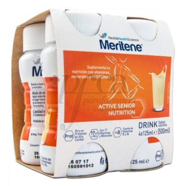 MERITENE DRINK VAINILLA 4X 125 ML