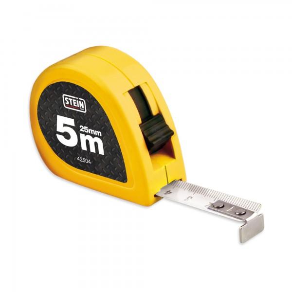 Flexometro stein freno y clip 5 m.25mm.b