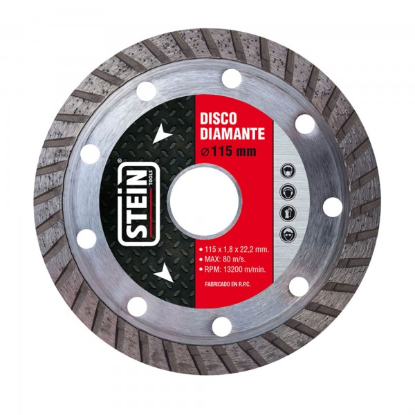 Disco stein diamante turbo 115 mm.