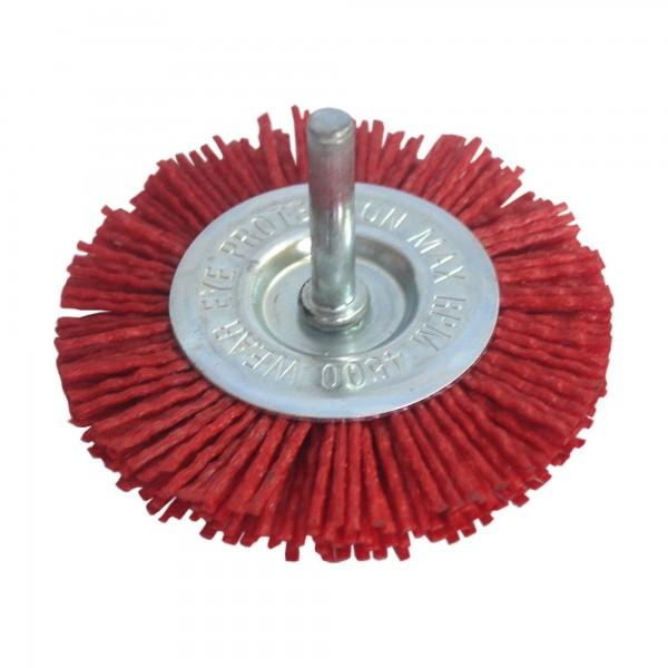 Cepillo nylon abr. bloque  75 mm. e-6mm.