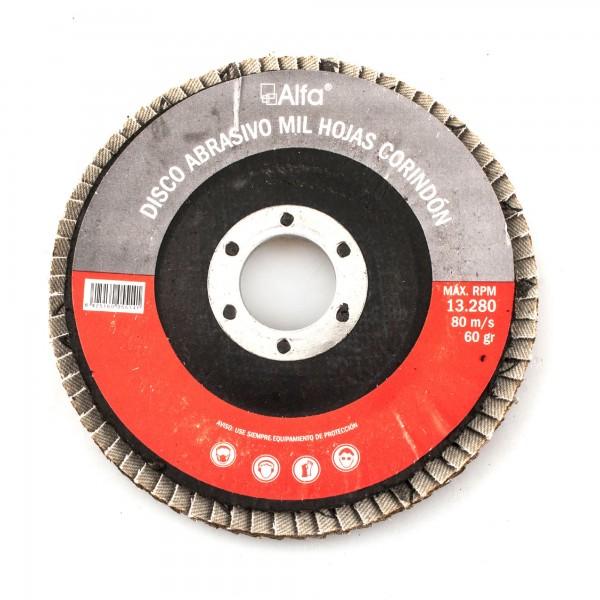 Disco laminas corindon 115 mm. grano  80