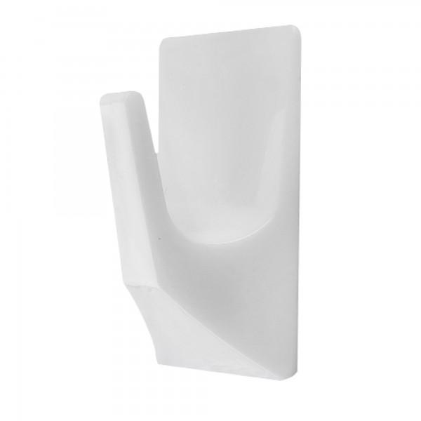 Percha plastico 50x30mm. blanca bl. 2u