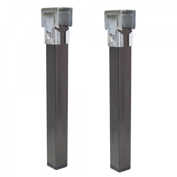 Pata somier 35x35mm. negra a-35 cm. 4u.