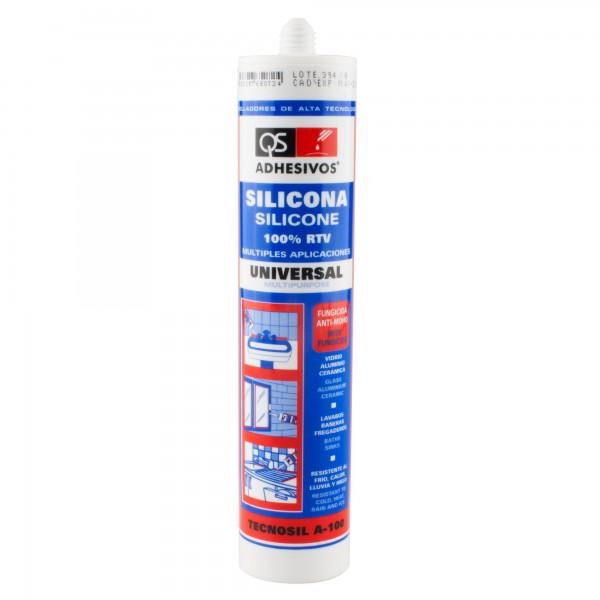 Silicona 300 gr. aluminio qs