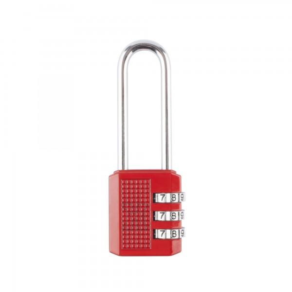 Candado combin. handlock 3 num.a/l rojo