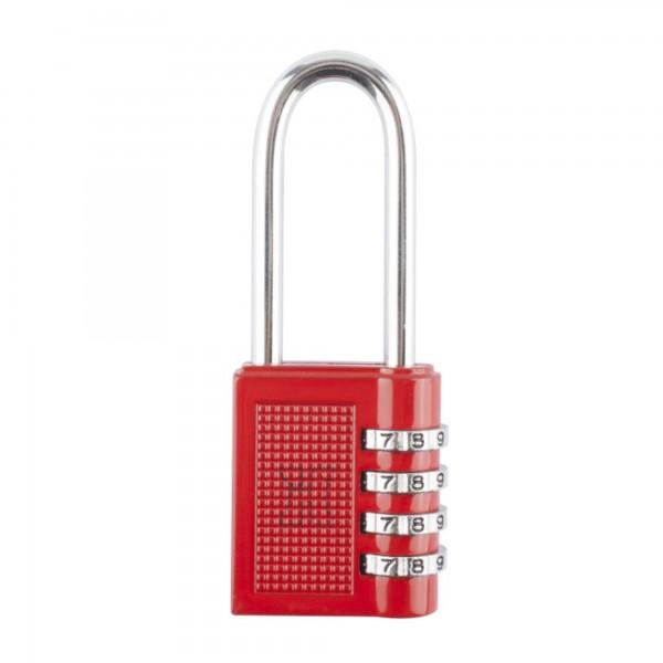 Candado combin. handlock 4 num.a/l rojo