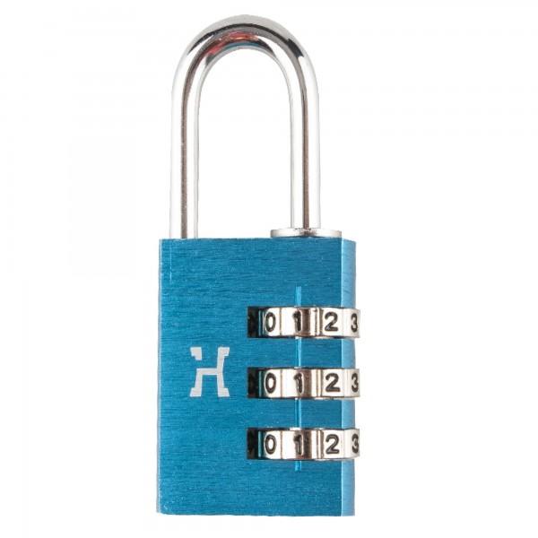 Candado alum.comb.handlock 30mm.3n azul