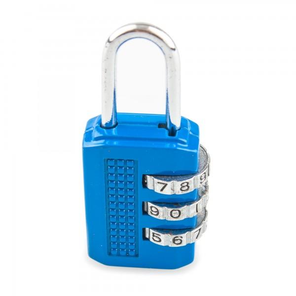 Candado combin. handlock 3 num. 25 azul