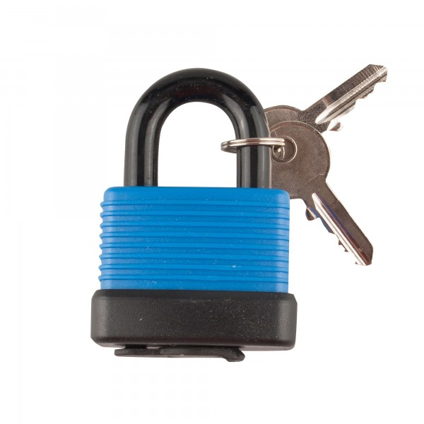 Candado handlock intemperie 40mm. azul