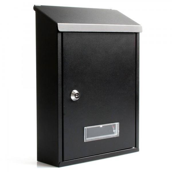 Buzon metalico 30x22x7 cm. negro