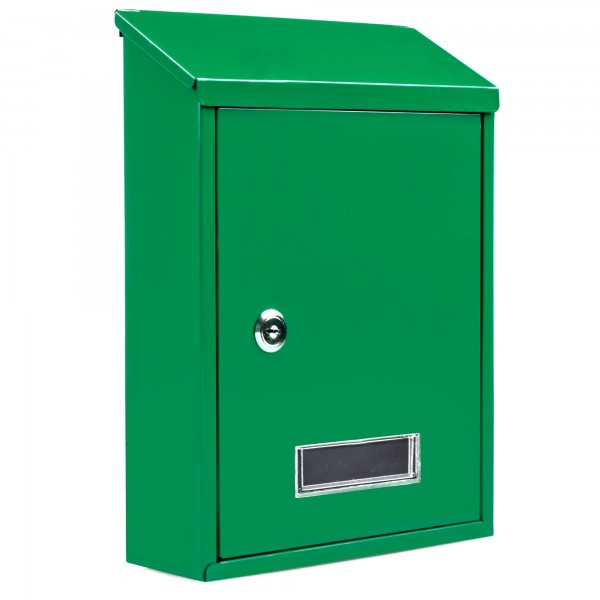 Buzon metalico 30x22x7 cm. verde
