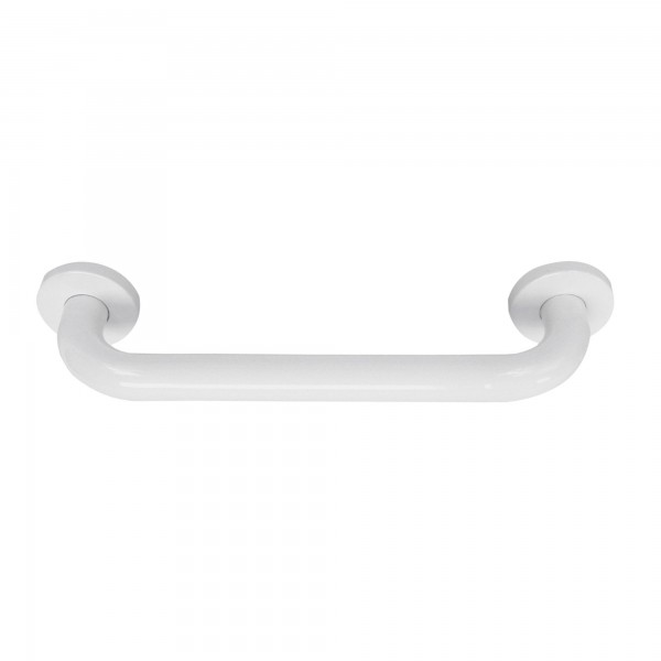 Agarradero bañera blanco inox 19x228 mm.