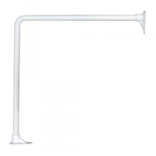 Barra baño curva blanca 80 x 180 cm.