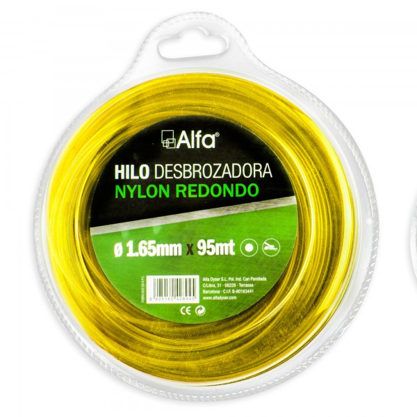 Hilo desbrozadora nylon 1,65 mm. 95 m.