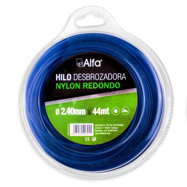 Hilo desbrozadora nylon 2,40 mm. 15 m.