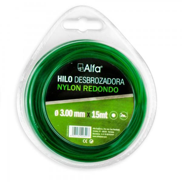Hilo desbrozadora nylon 3,00 mm. 15 m.