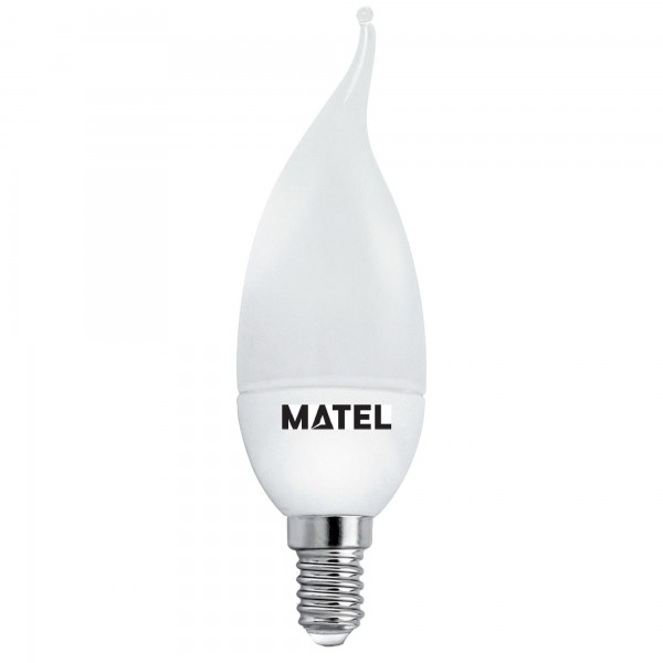 Bomb.led vela flama e14 8w.neutra