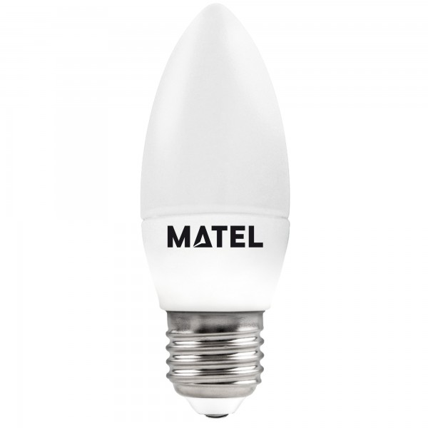 Bomb.led vela e27 5w.calida