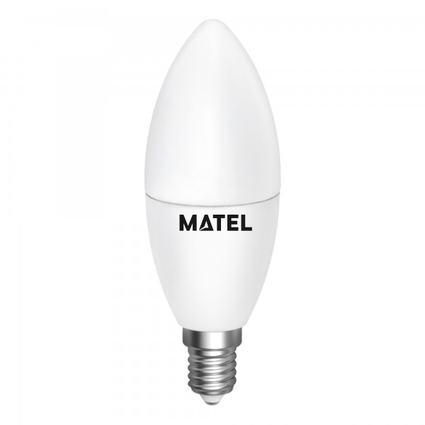 Bomb.led vela regulable e14 7w.calida