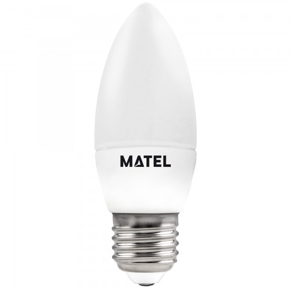 Bomb.led vela regulable e27 7w.fria