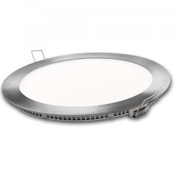 Downlight led redondo plata  6w.fria
