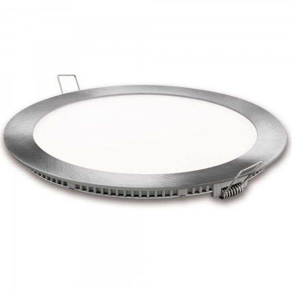 Downlight led corte 185mm.gris 18w.cal