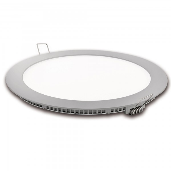 Downlight led corte 185mm.plata 18w.cal
