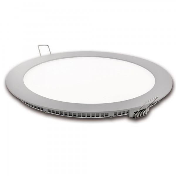 Downlight led corte 185mm.plata 18w.fri