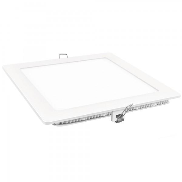 Downlight led cuadrado blanco  3w.fria