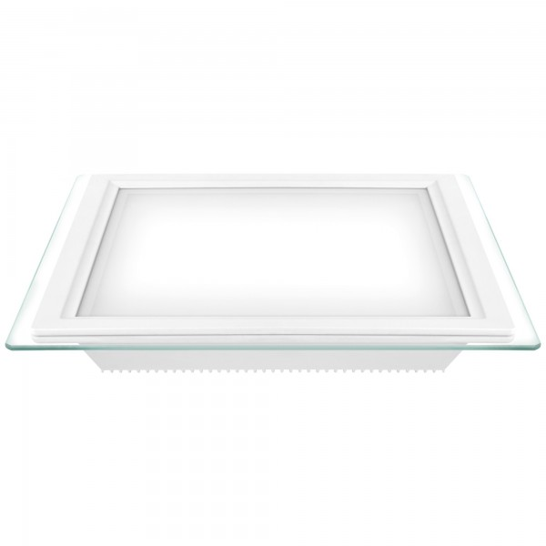 Downlight led cuadrado cristal 24w.fria