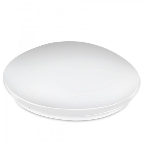 Aplique led redondo  blanco 24w.calida