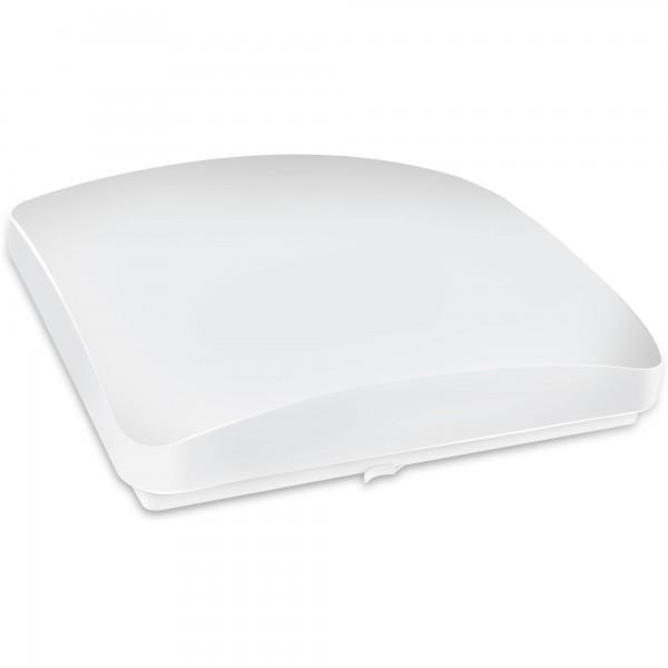 Aplique led cuadrado blanco 12w.calida