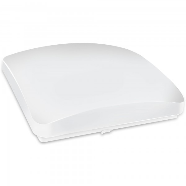 Aplique led cuadrado blanco 18w.neutra
