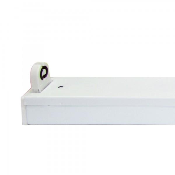 Regleta led ip20 p/1tubo led 18w.120cm